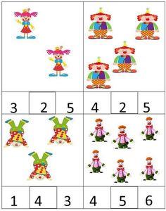 Воспитателю детского сада — Разное | OK.RU Me Preschool Theme, Numbers Preschool, Preschool Lesson Plans, Preschool Classroom, Kindergarten Activities, Circus Activities, Math Activities For Kids, Theme Carnaval, Clown Crafts