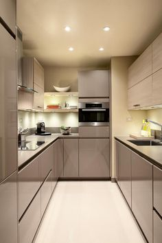 Stylish Galley Kitchen
