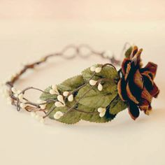 woodland crown bridal hair piece WINDSWEPT by whichgoose on Etsy