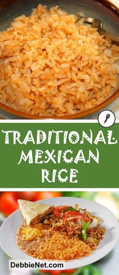 Traditional Mexican rice makes a great side dish with tacos, burritos or just ab. - Traditional Mexican rice makes a great side dish with tacos, burritos or just about any dish. Authentic Mexican Recipes, Mexican Rice Recipes, Easy Mexican Rice, Mexican Rice Recipe With Cooked Rice, Restaurant Mexican Rice Recipe, Easy Spanish Rice Recipe, Taco Side Dishes, Rice Dishes, Food Dishes