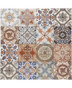 Vloertegels 'Nikea' mix 20 x 20 cm Patterned Kitchen Tiles, Tile Accent Wall, Floors And More, Mosaic Backsplash, Bathroom Floor Tiles, Kitchen Redo, Kitchen Ideas, Tile Patterns, Kitchen Flooring