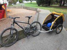 Bike With Child Trailer Child Bike Trailer Pinterest Child