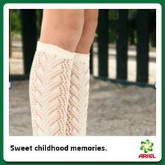 The height of school girl fashion. I had some with embroidered flowers down the side - remember those? 1980s Childhood, My Childhood Memories, Sweet Memories, Nostalgia, Retro, White Knee High Socks, Knee Socks, 80s Kids, My Memory
