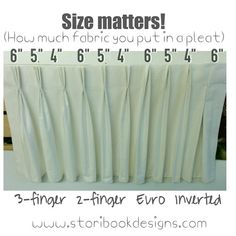 Size matters (at least in drapery pleats!) Yes it does, Deb Barrett.