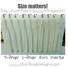 Size matters (at least in drapery pleats!)