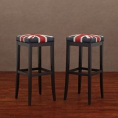 @Overstock.com - Enhance your seating decor with these uniquely styled and finished Kari Union Jack leather barstools. These barstools feature a dark brown polyurethane coated cow leather construction with dark brown finished birch wood legs.http://www.overstock.com/Home-Garden/Kari-Union-Jack-Leather-Barstools-Set-of-2/6377854/product.html?CID=214117 $137.99