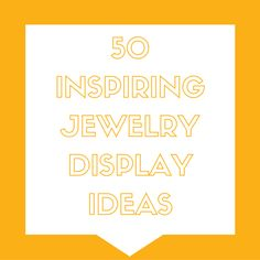 50 jewelry display ideas perfect for your next craft show. Find tutorialsfor DIYsetups and lots of inspiring ways to show off your creations.
