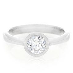White Gold and Diamond - This is Love Ring White Gold Diamonds, Round Diamonds, This Is Love, Diamond Solitaire Rings, Love Ring, Jewellery Designs, Piercing, Tube, Jewels