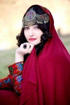 #afghan #national #dress  #style #girl #jewelry