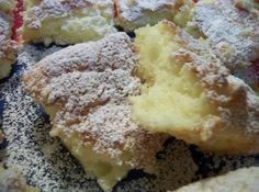 2 ingredients 1 box Angel Food Cake Mix, 1 can lemon pie filling ~sprinkle with conf. sugar for Easy Lemon Bars