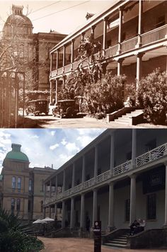Courtyard of the Mint building on Macquarie Street, Sydney c1935 > 2016. [Sydney Living Museums > Phil Harvey. By Phil Harvey]