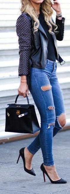 Zara jeans + Christian Louboutin Heels