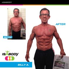"Billy A., IsaBody Challenge Finalist, says the strategy for his amazing transformation was to ""Be positive and wake up in the morning happy and ready to make a change!"" Take a look at his story!"