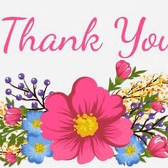 Thank You Greetings, Thank You Messages, Thank You Cards, Pretty Tattoos, Cool Tattoos, Pink Flower Tattoos, Tattoo Floral, Thank You Flowers, Happy Birthday Wishes Cards