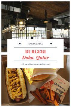 Burgeri - In my quest to do a Battle of the Burgers in Doha, Qatar, first up is the Qatari-owned burger joint with a vintage interior. Doha, Countries Of The World, Restaurants, Wanderlust, Eat, Ethnic Recipes, Travel, Viajes, Restaurant