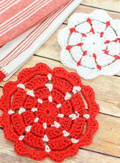 Crochet Pot Holders … 2 Free Crochet Potholder Patterns (also make great nonstick pan protectors!)