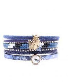 Bracelet multi tours swarovski bleu