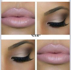 Baby pink lips with neutral eyeshadow.love the eyeshadow Pretty Makeup, Love Makeup, Beauty Makeup, Makeup Looks, Makeup Tips, Makeup Ideas, Makeup Blog, Simple Makeup, Amazing Makeup