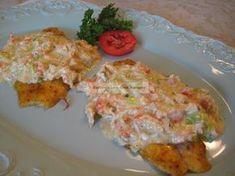 Broiled Tilapia with Seafood Wine Sauce, I will sub out the tilapia for cod or haddock and the crayfish with lobster.
