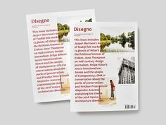 Studio AKFB redesigns the newly relaunched Disegno Magazine.