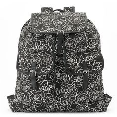 Candie's Floral Backpack (Green) ($25) ❤ liked on Polyvore featuring bags, backpacks, green, green tea bags, floral print backpack, backpack, pattern backpack and top handle backpack