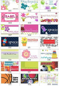 Resultado de imagen para tarjetas de presentacion infantiles Free Printable Stickers, Printable Labels, Free Printables, School Labels, Presentation Cards, Name Labels, Lalaloopsy, All Kids, Name Cards