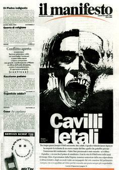 Dead or Alive. Illustration. Ink on paper. «il manifesto» 1997