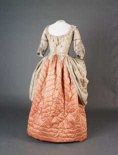 Gown (worn rétroussée), ca. 1780; Springhill, UKNT 602786