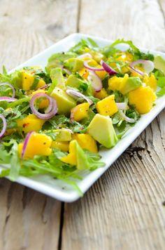 Avocado-Mango-Salad with Orange Dressing