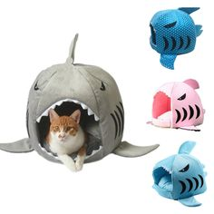 Shark Warm Washable Cushion Mat Dog Cat Pet Basket House Pad Tent Bed 4 Colors | Pet Supplies, Dog Supplies, Beds | eBay!