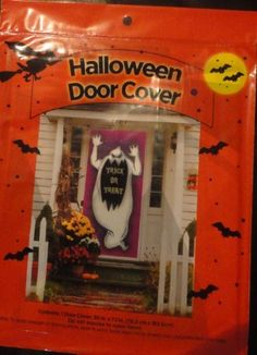 "Halloween Door Cover . $9.95. MONSTER COVER IS PERFECT FOR DOORS, WALLS, WINDOWS, CEILINGS, FLOORS. PLASTIC. MEASURES 30"" x 72"". NEVER TOO EARLY TO PLAN FOR HALLOWEEN FUN!"