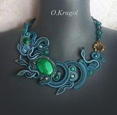 Asesoris                                                                                                                                                                                 More Ribbon Jewelry, Seed Bead Jewelry, Clay Jewelry, Boho Jewelry, Beaded Jewelry, Jewelery, Handmade Jewelry, Jewelry Design, Soutache Necklace