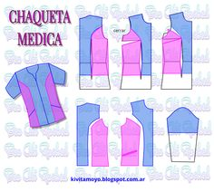 Blog de patronaje y diseño Scrubs Outfit, Scrubs Uniform, School Pinafore, Sewing Hacks, Sewing Projects, Scrubs Pattern, Tailored Fashion, Medical Scrubs, Dress Sewing Patterns