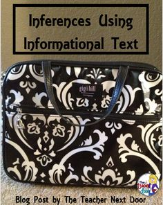 ____________'s Bag? Read about lots of other activities and tips to help you teach inferences. I love this topic! Teaching Language Arts, Classroom Language, Teaching Writing, Teaching Ideas, Reading Lessons, Reading Skills, Reading Comprehension Strategies, Third Grade Reading, Reading Street