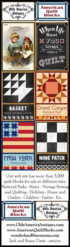 Olde America Antiques has a new quilt block category for chalkboard designs. Our quilt blocks come in different sizes. Visit our web site to see more than 5,000 quilt blocks. Email wonderland@montana.com.