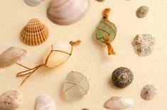 Cómo hacer colgantes con cristales de playa (sin agujeros) - Wasel Wasel