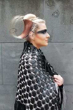 'Thead Sprial' and fashion wear by RMIT University Fashion Design student, Sophie Lew.