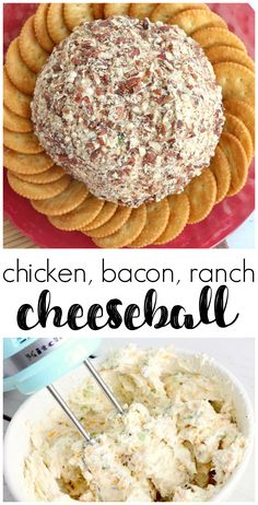 Frugal Food Items - How To Prepare Dinner And Luxuriate In Delightful Meals Without Having Shelling Out A Fortune Chicken, Bacon, And Ranch Cheeseball Recipe. Christmas Party Dip Appetizer Idea With Crackers. Christmas Party Dips, Christmas Cheese, Christmas Food Treats, Christmas Appetizers, Holiday Foods, Family Christmas, Christmas Eve, Bacon Appetizers, Finger Food Appetizers