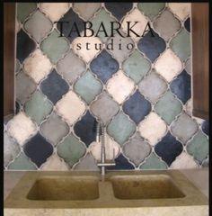 Packsplash for the kitchen arabesco-backsplash. Kitchen Redo, Kitchen Backsplash, Kitchen Remodel, Backsplash Ideas, Tile Ideas, Bath Remodel, Tabarka Tile, Discount Tile, Tile Stores