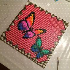 Butterfly hama perler art by micbeth