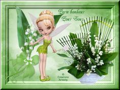 1er Mai Fête du Muguet 2 - Créations Armony Tinkerbell, Attitude, Disney Characters, Fictional Characters, Creations, Passion, My Favorite Things, Disney Princess, Tinker Bell