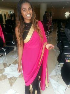 n crop top Sari, Crop Tops, Fashion, Cropped Tops, Saree, Moda, La Mode, Fasion, Fashion Models