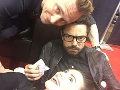 Look at those cuties! ~ Night night!⭐️ ~ #Marvel #TomHiddleston #HayleyAtwell #DominicCooper
