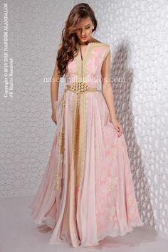 One gorgeous pink modern moroccan takchita #moroccancaftan