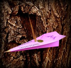 Handmade Confidential MoM Ministry Inspired Paper Plane Christmas Ornament