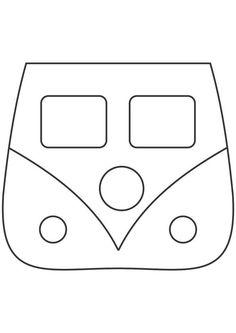 Lixeirinha para carro modelo kombi