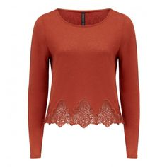 Lilith crochet hem knitted top 39.99