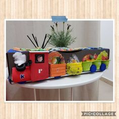 DIY treasure chest craft Krystof Train with Stof's fave foodie Recycled materials Treasure Chest Craft, Crafts For Kids, Arts And Crafts, Recycled Materials, Recycling, Train, Diy, Crafts For Children, Bricolage