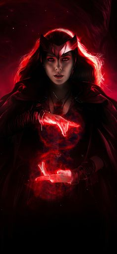 Scarlet Witch by mizuriofficial, Disney+ WandaVision Marvel TV Show HD Wallpaper For iPhone Marvel Show, Marvel Art, Marvel Heroes, Marvel Avengers, Disney Marvel, Captain Marvel, Scarlet Witch Comic, Scarlet Witch Avengers, Marvel Women