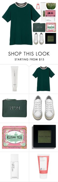 """Just me and y o u ~"" by radicalelliot ❤ liked on Polyvore featuring AmorePacific, Marni, N°21, Acne Studios, Kusmi Tea, Bobbi Brown Cosmetics, NARS Cosmetics and Korres"
